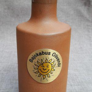 """0,5 l Tonflasche """" Bajokabus"""""""